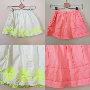 Crewcuts 6/7 neon cotton full skirts